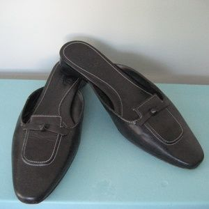 Cole Haan Black Leather slides/flats size 7.5B